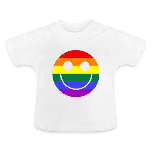 Regenbogen Smilie 1 - Baby T-Shirt