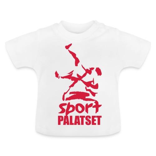Motiv med röd logga - Baby-T-shirt