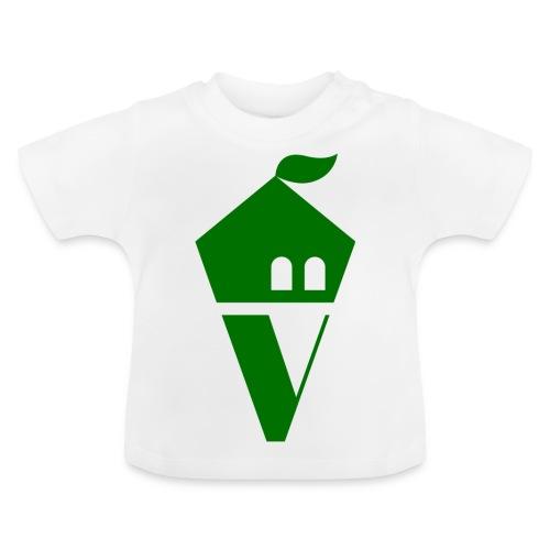 Villekula Logo in Grün auf Schwarz - Baby T-Shirt