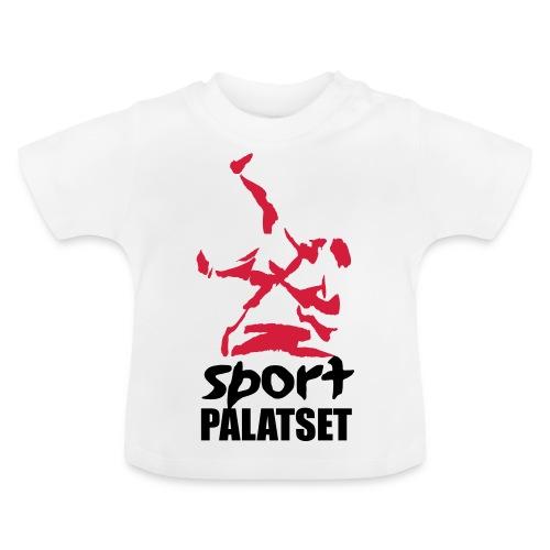 Motiv med svart och röd logga - Baby-T-shirt