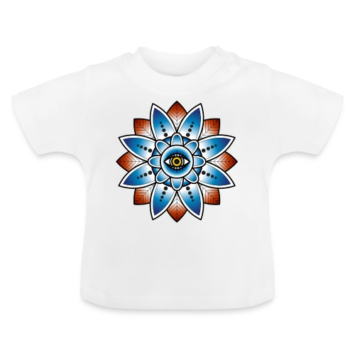 Psychedelisches Mandala mit Auge - Baby T-Shirt