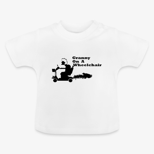 granny on a wheelchair - Baby T-Shirt