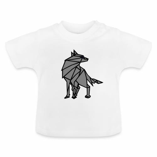 loup geometrique - T-shirt Bébé