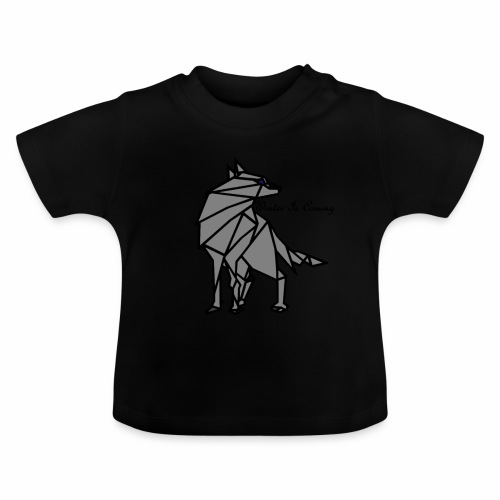 loup l'hiver vient - T-shirt Bébé