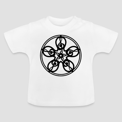 Treble Clef Mandala (black) - Baby T-Shirt