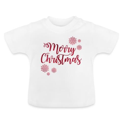 Merry christmas Noël New shape fane design vintage - T-shirt Bébé
