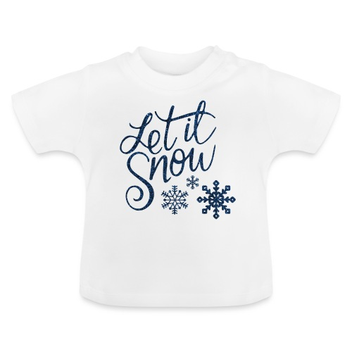 Let il snow Noël New shape fane design vintage - T-shirt Bébé