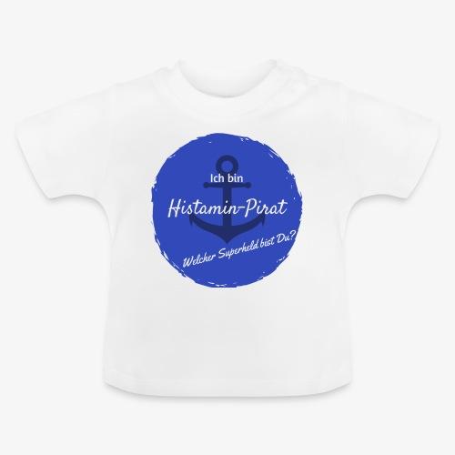Histamin-Pirat Superheld (blau) - Baby T-Shirt