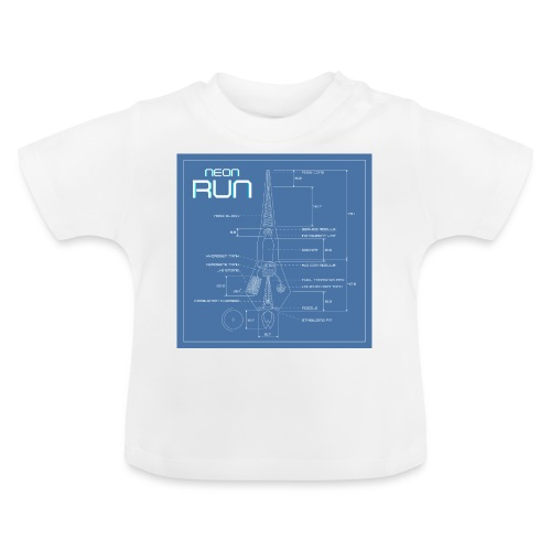 NeonRun blueprint - Baby T-shirt