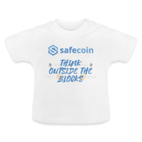SafeCoin; think outside the blocks (blue) - Baby T-Shirt