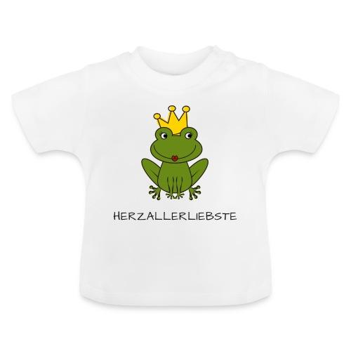 Froni mit Schriftzug Herzallerliebste (schwarz) - Baby T-Shirt