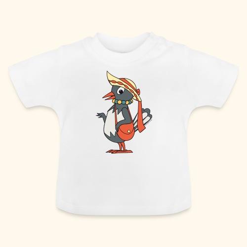 Frau Elster mit Tasche und Hut - Baby T-Shirt