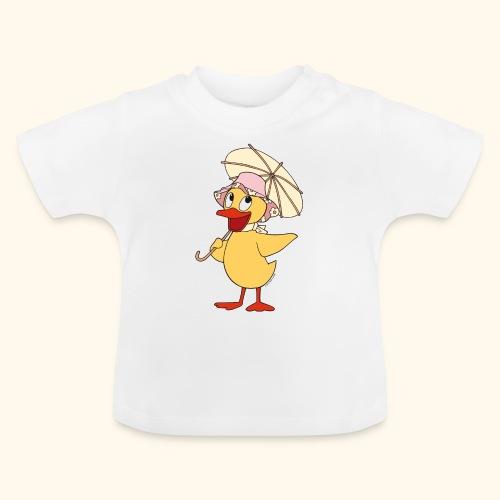 Schnatterinchen mit Schirm - Baby T-Shirt