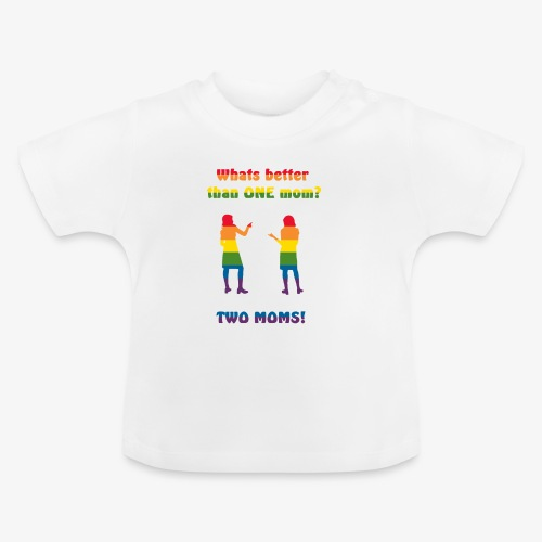 Två mammor - Pride - Baby-T-shirt