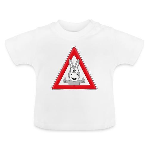 VORSICHT ESEL - TIER - TIERISCH - GESCHENKIDEE - Baby T-Shirt