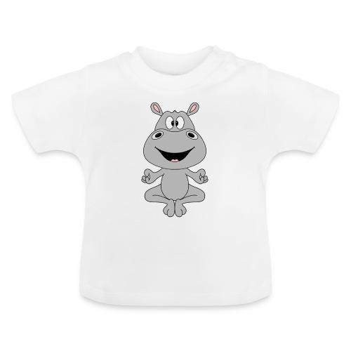 FLUSSPFERD - HIPPO - NILPFERD - YOGA - PILATES - Baby T-Shirt