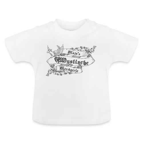 Schriftband Maja's Mystische Menagerie - Schwarz - Baby T-Shirt