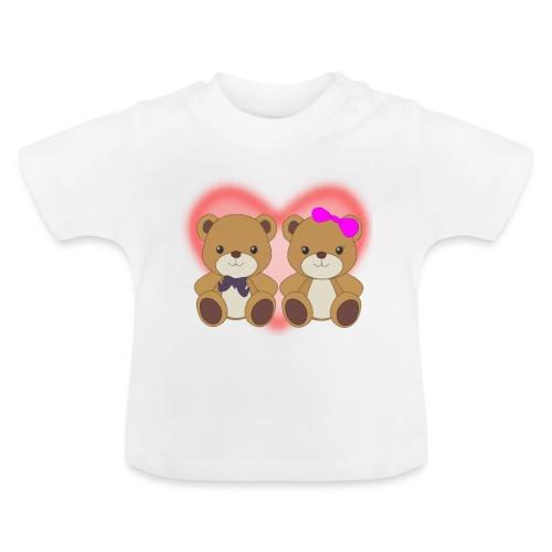 Orsetti con cuore - Maglietta per neonato