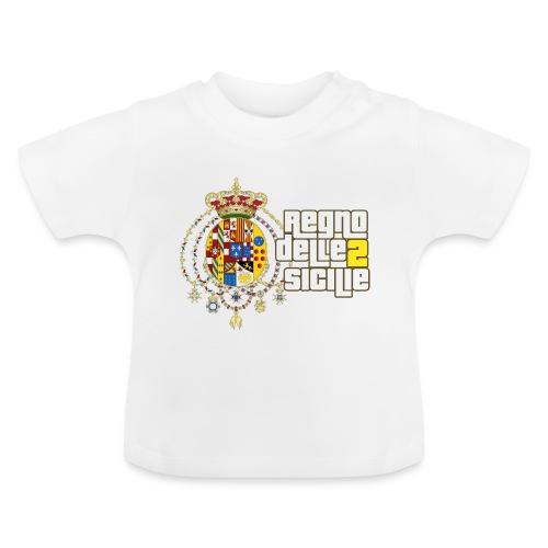 regno delle 2 sicilie testo bianco - Maglietta per neonato