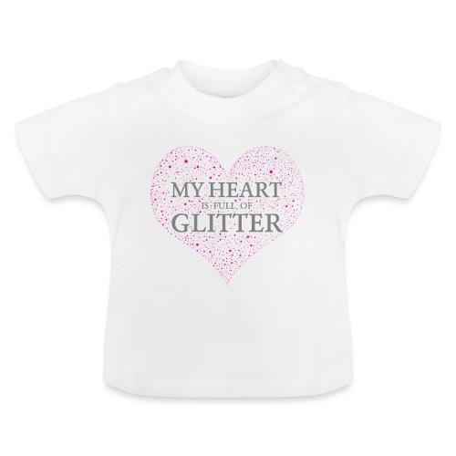 Glitzer Herz - Baby T-Shirt