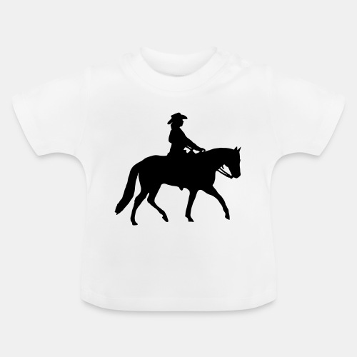 Ranch Riding Silhouette Westernreiterin - Baby T-Shirt