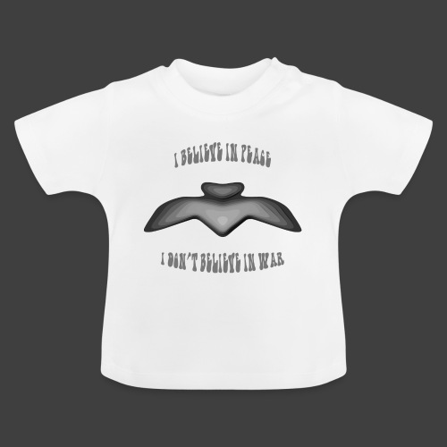 I believe in peace 4 png - Baby T-Shirt