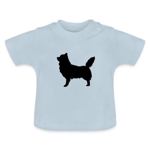 Chihuahua pitkakarva musta - Vauvan t-paita