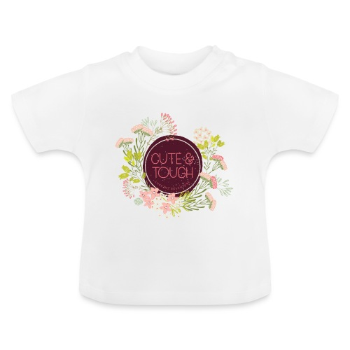 Cute and tough - vinröd - Baby-T-shirt