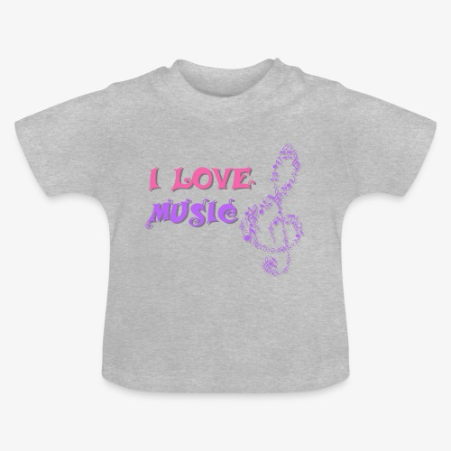 Love Music - Camiseta bebé