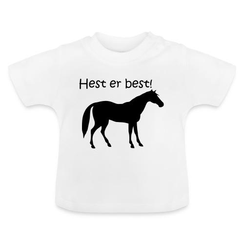 hest er best - Baby-T-skjorte