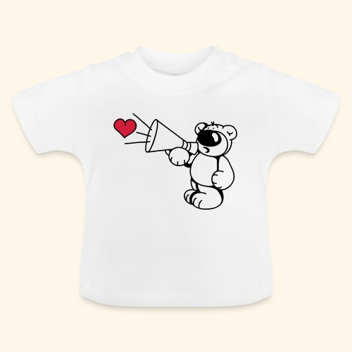 chrisbear mit Megafon - Baby T-Shirt