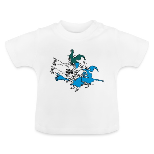 Witches on broomsticks Men's T-Shirt - Baby T-Shirt