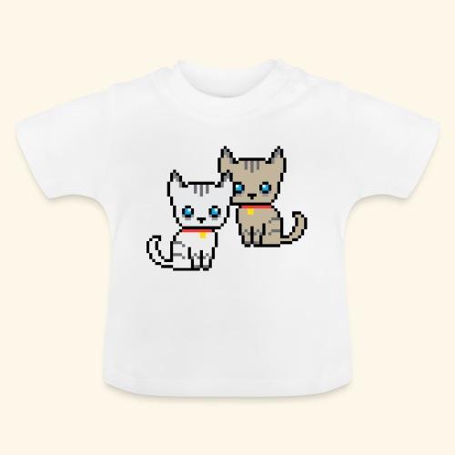 deux chats pixel - T-shirt Bébé