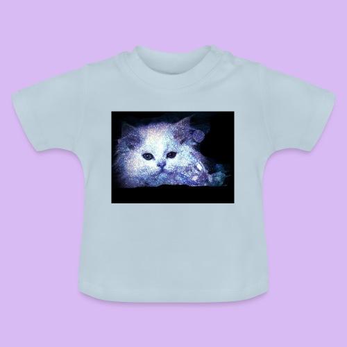 Gatto bianco glitter - Maglietta per neonato