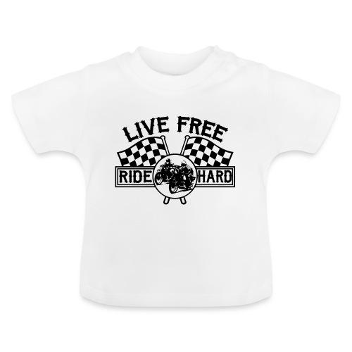 Live Free Ride Hard - Camiseta bebé