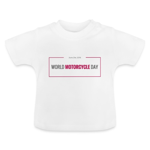 World Motorcycle Day 2016 Official T-Shirt ~ Grey - Baby T-Shirt