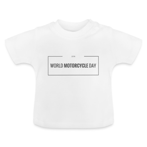 World Motorcycle Day 2016 Official T-Shirt ~ White - Baby T-Shirt