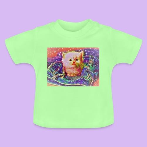 Gattino scintillante nella tasca dei jeans - Maglietta per neonato