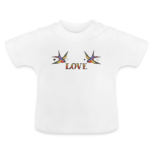 A Pair Of Swallows In Love - Baby T-Shirt