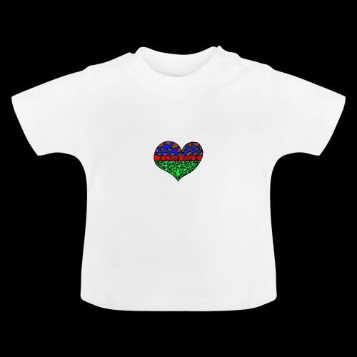 Herz Leben Welt Love you green - Baby T-Shirt