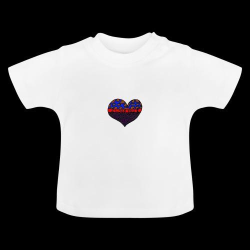 Herz Leben Welt Love you Lila - Baby T-Shirt