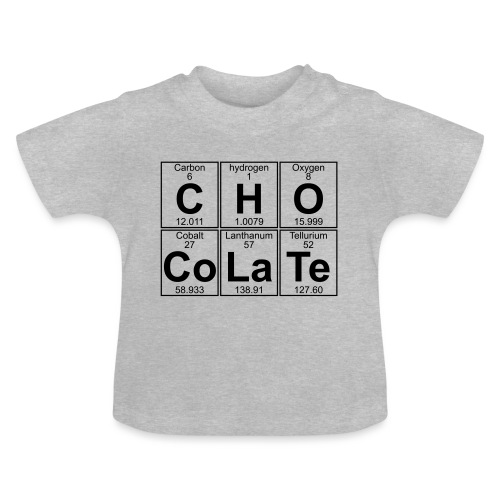 C-H-O-Co-La-Te (chocolate) - Full - Baby T-Shirt