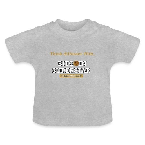 Think different with bitcoin - Maglietta per neonato