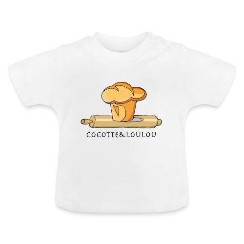 Brioche française et rouleau à patisserie - T-shirt Bébé
