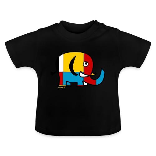 Mondrian Elephant - Baby T-Shirt
