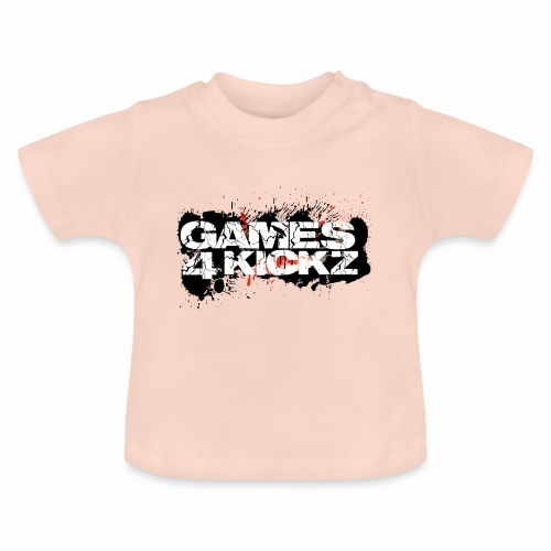 Games4Kickz Logo Splattered Background - Baby T-Shirt