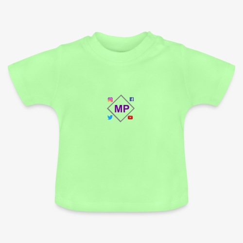 MP logo with social media icons - Baby T-Shirt