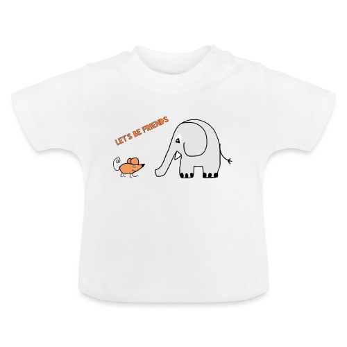 Elephant and mouse, friends - Baby T-Shirt