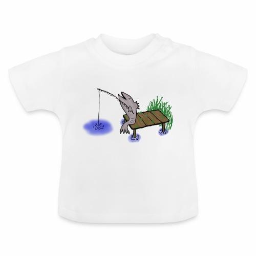 Fisch, Angler,Teich - Baby T-Shirt