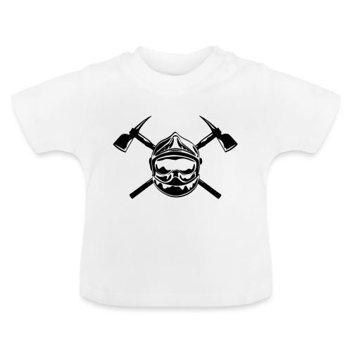 casque_pompier_2 haches - T-shirt Bébé
